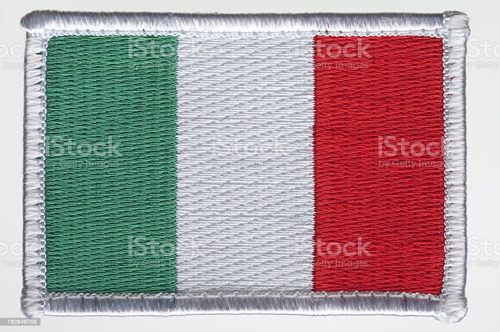 Italy's Flag Patch. royalty-free stock photo