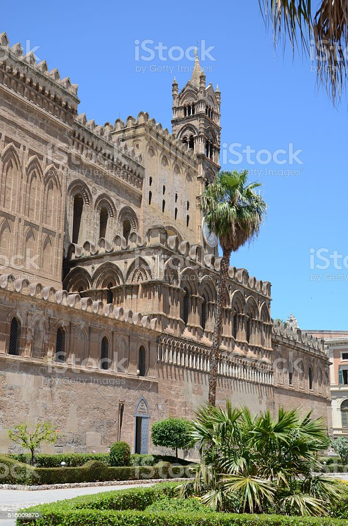 Italy,Sicily,Palermo Section of the cathedral stock photo