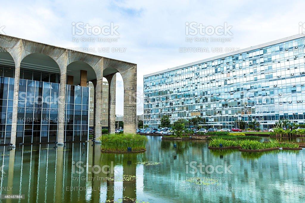 Itamaraty Palace in Brasilia, Brazil stock photo