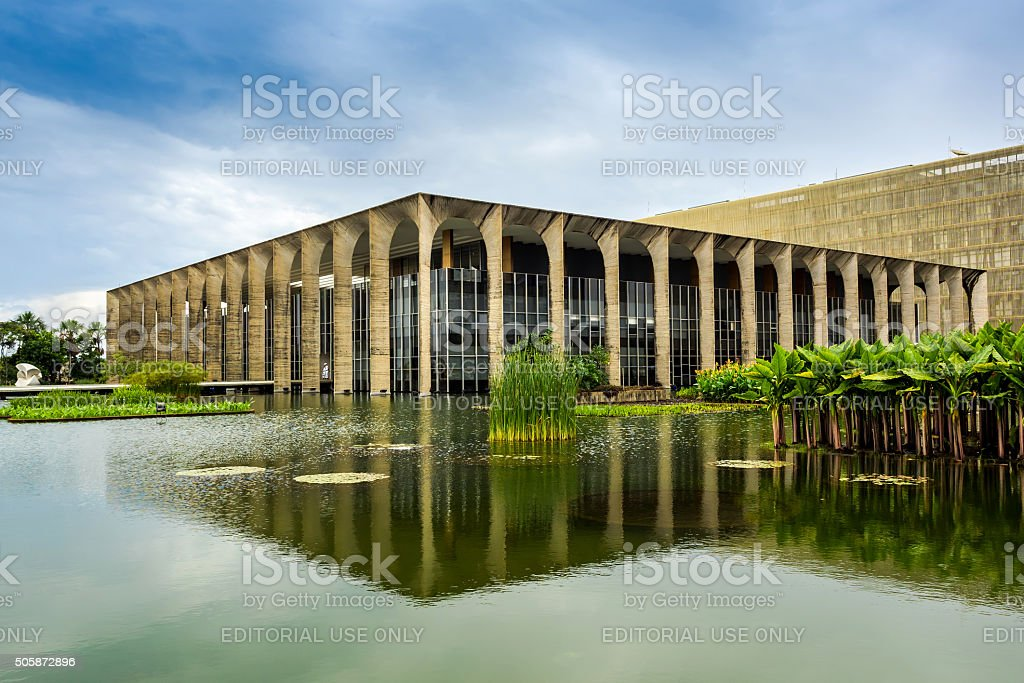 Itamaraty Palace in Brasilia, Capital of Brazil stock photo