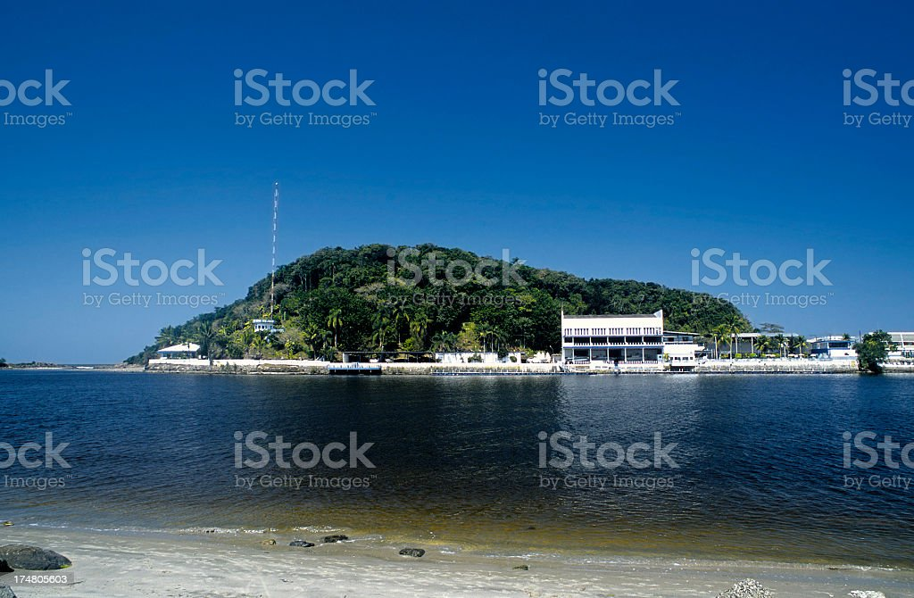 Itanhaém River royalty-free stock photo