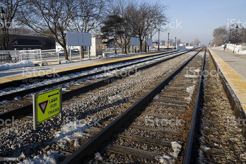 Itasca Railroad Tracks royalty-free stock photo