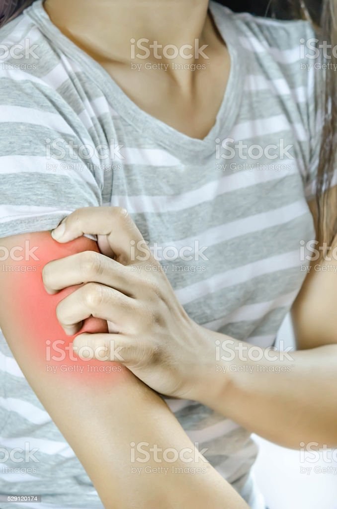 Itching In A Woman stock photo