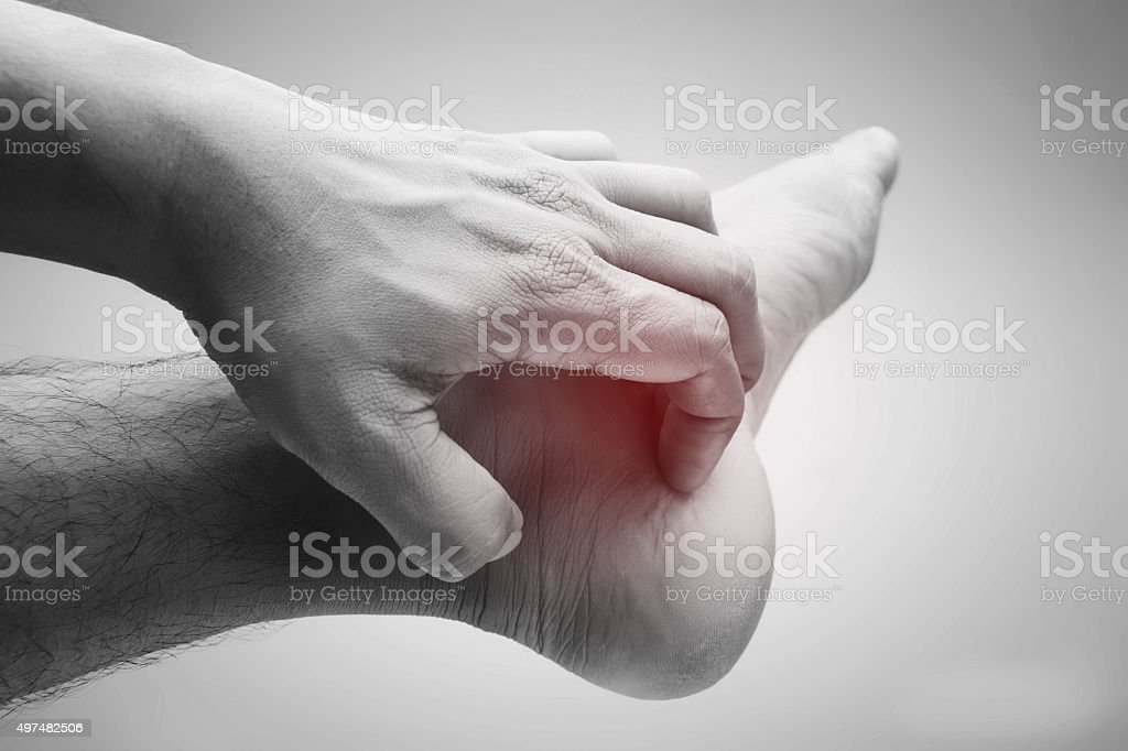 Itching stock photo