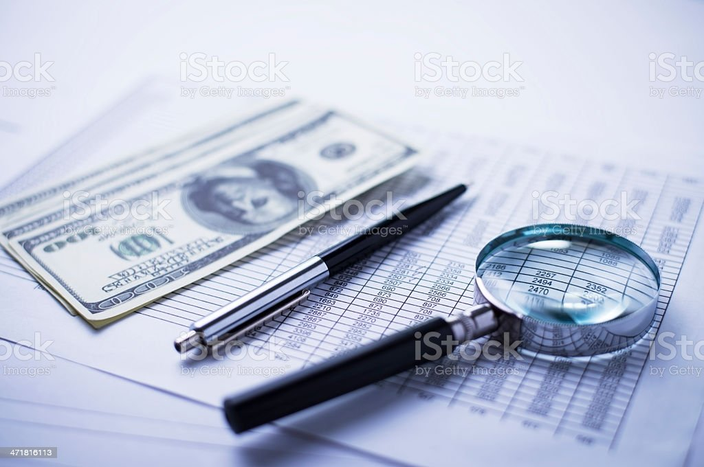 items accountant royalty-free stock photo