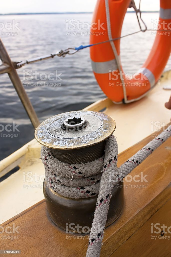 items of equipment for yacht royalty-free stock photo