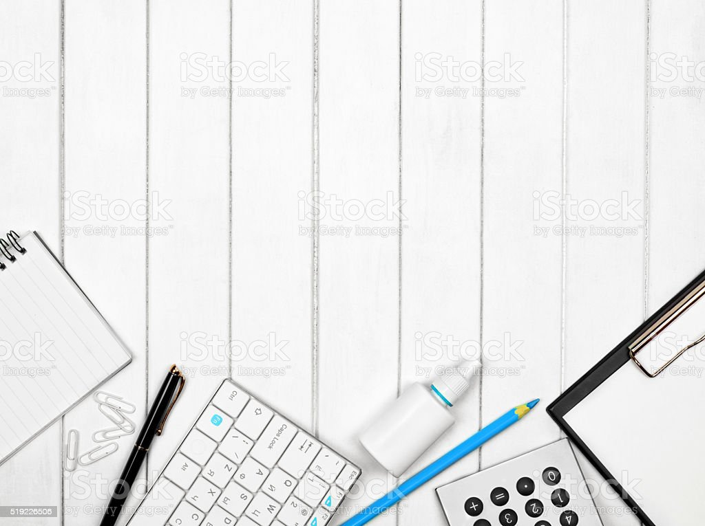 items on a white stock photo