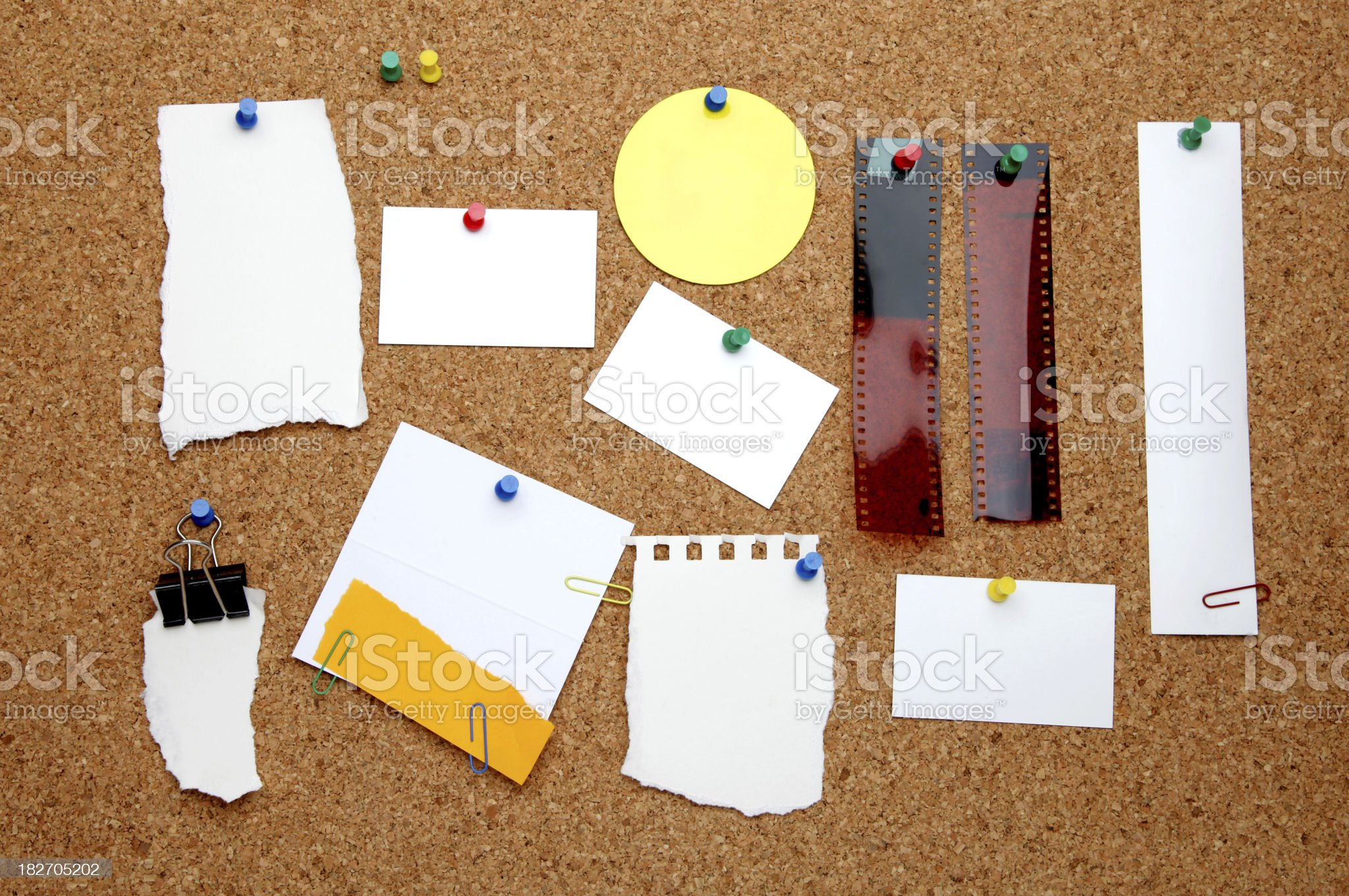 Items on noticeboard royalty-free stock photo