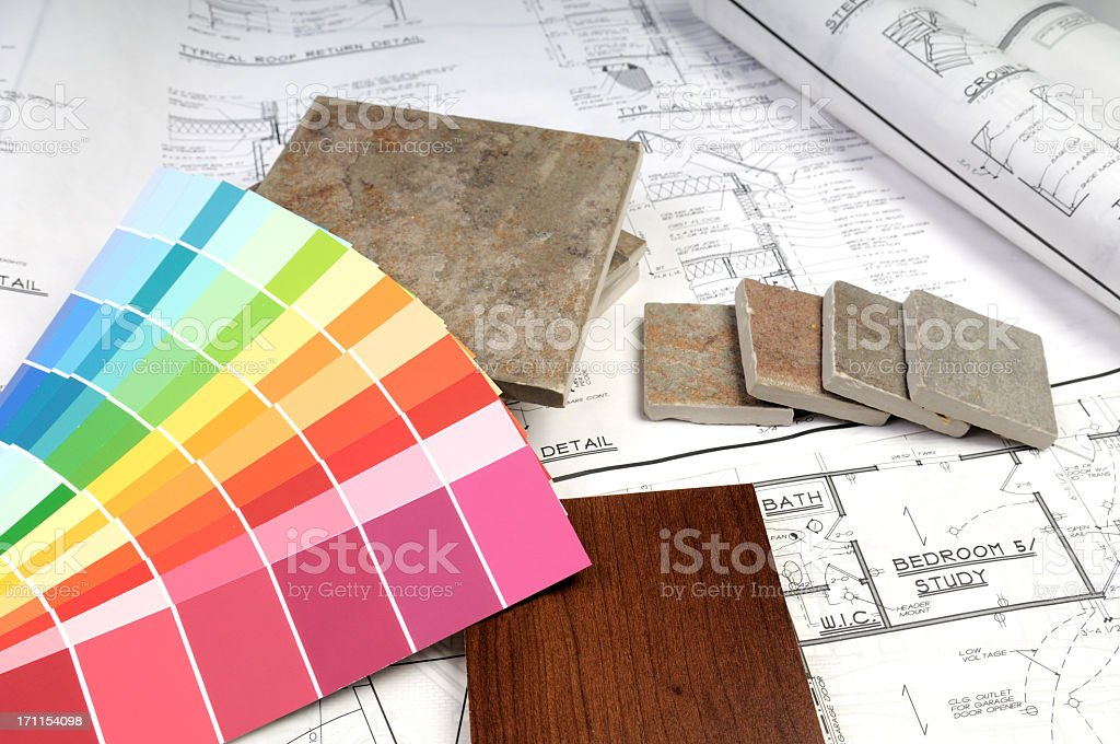 Items ready for home decorating royalty-free stock photo