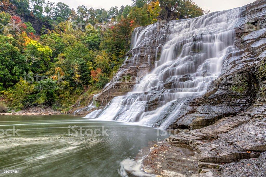Ithaca Falls & Fall Creek Swirls stock photo