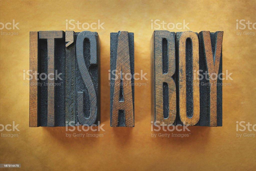 It's a Boy stock photo
