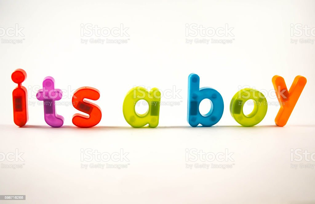 its a boy stock photo