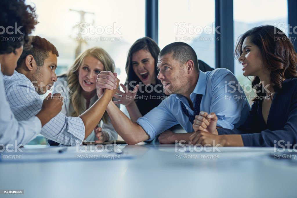 It's a business standoff stock photo