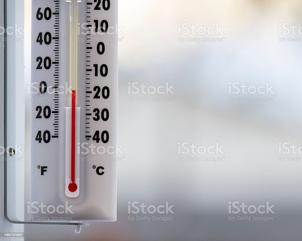 It's a cold day outside stock photo