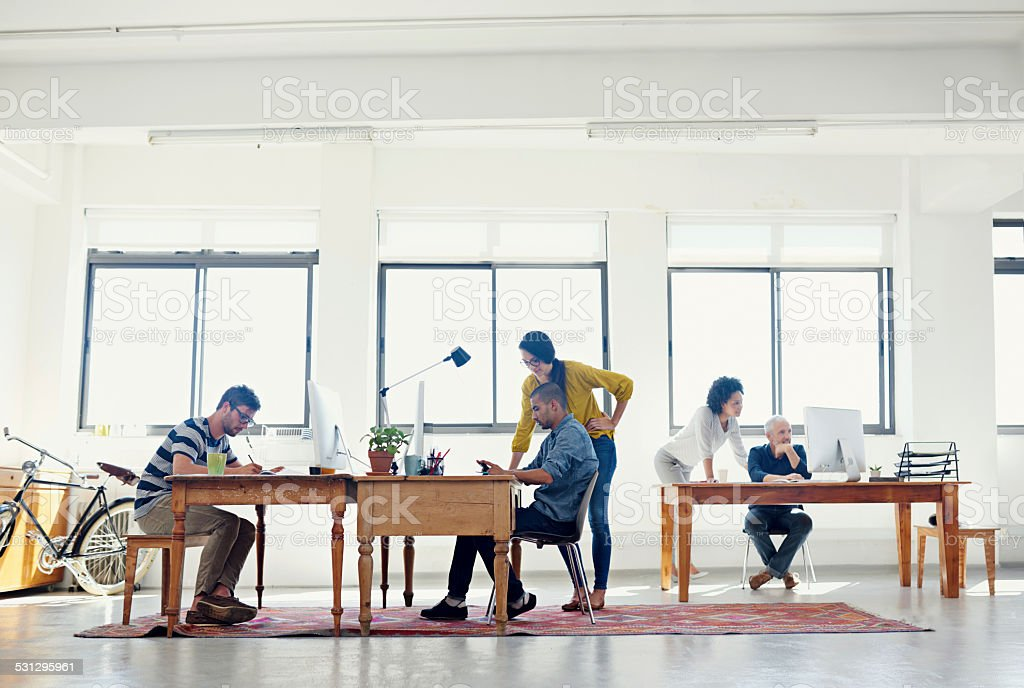 It's a creative environment stock photo