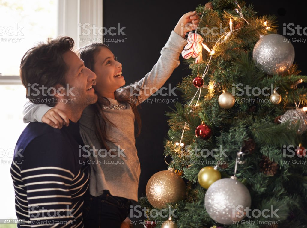 It's a daddy daughter thing stock photo