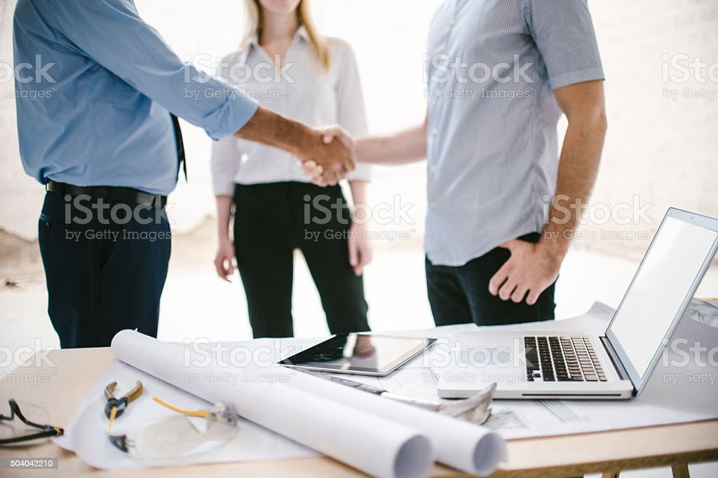 It's a deal! stock photo
