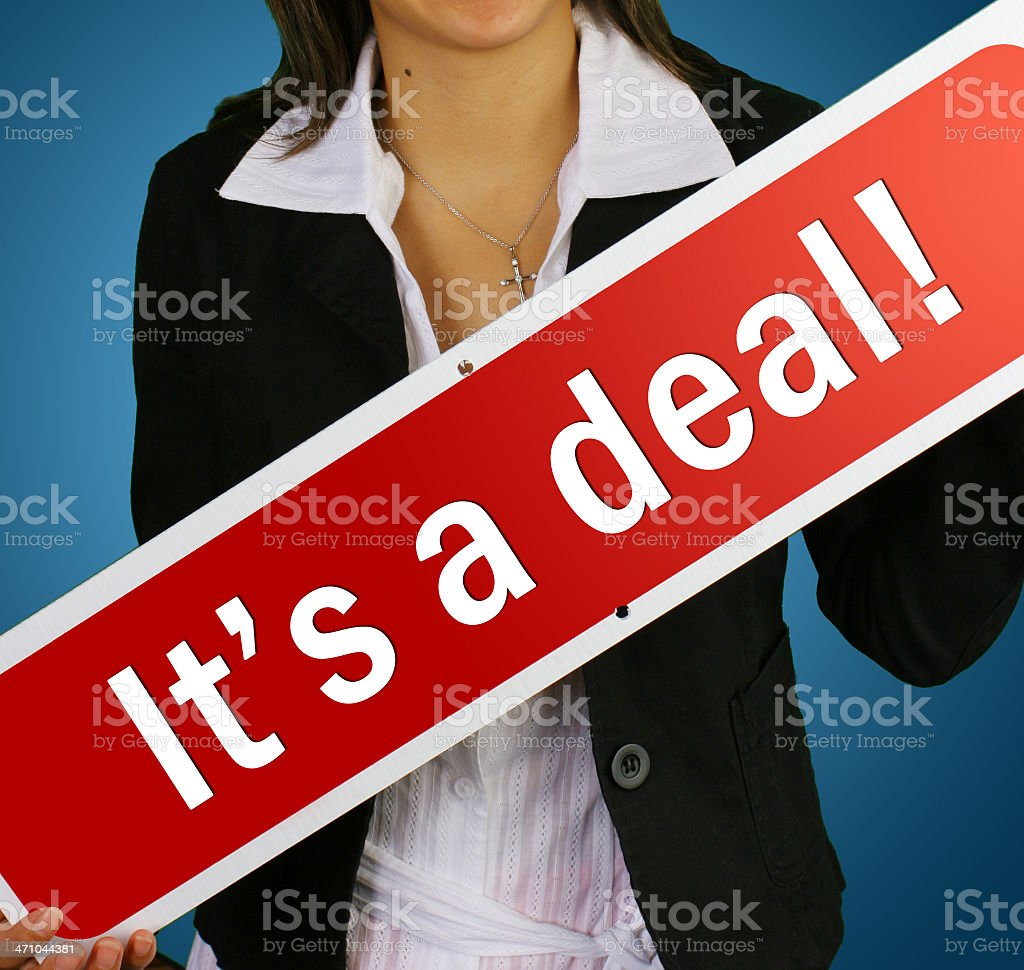 'it's a deal!' real estate sign royalty-free stock photo