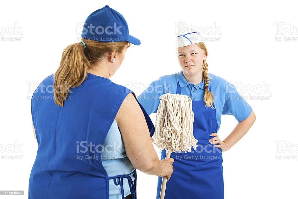 Its a Dirty Job stock photo
