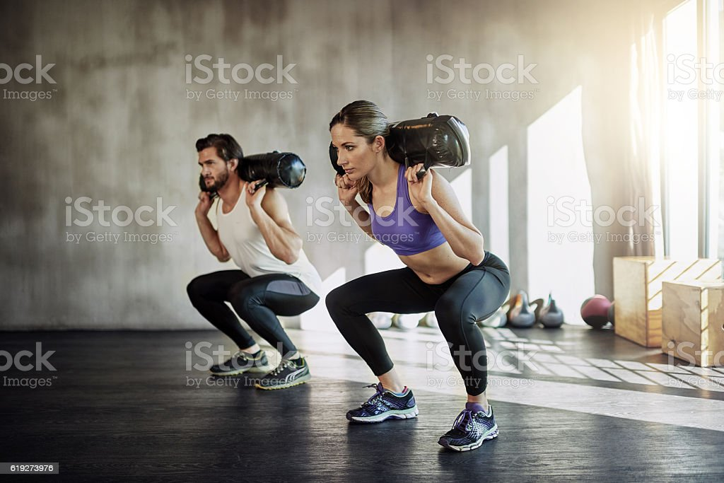 It's a good day to lift something heavy stock photo