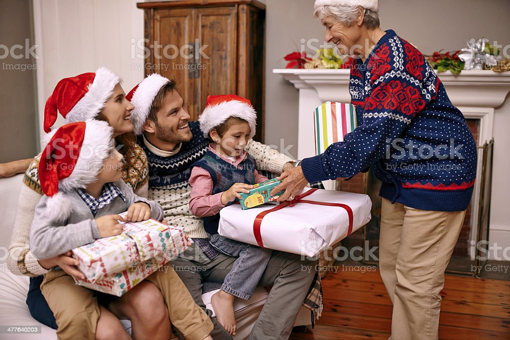 It's a granny's right to spoil her grandchildren! royalty-free stock photo
