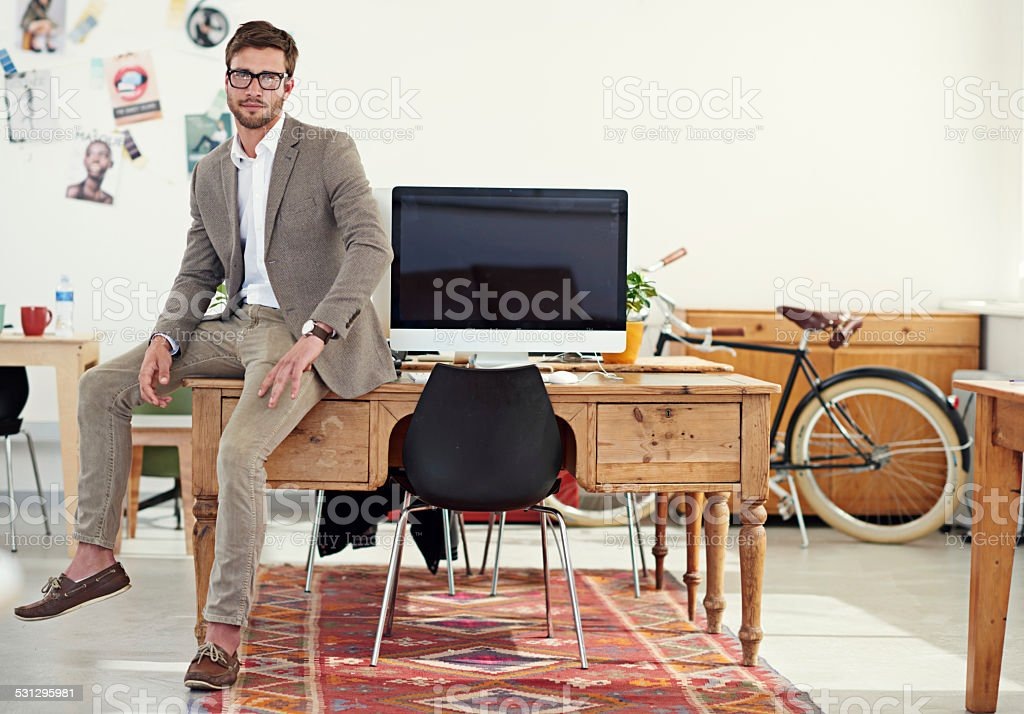 It's a great place to work! stock photo