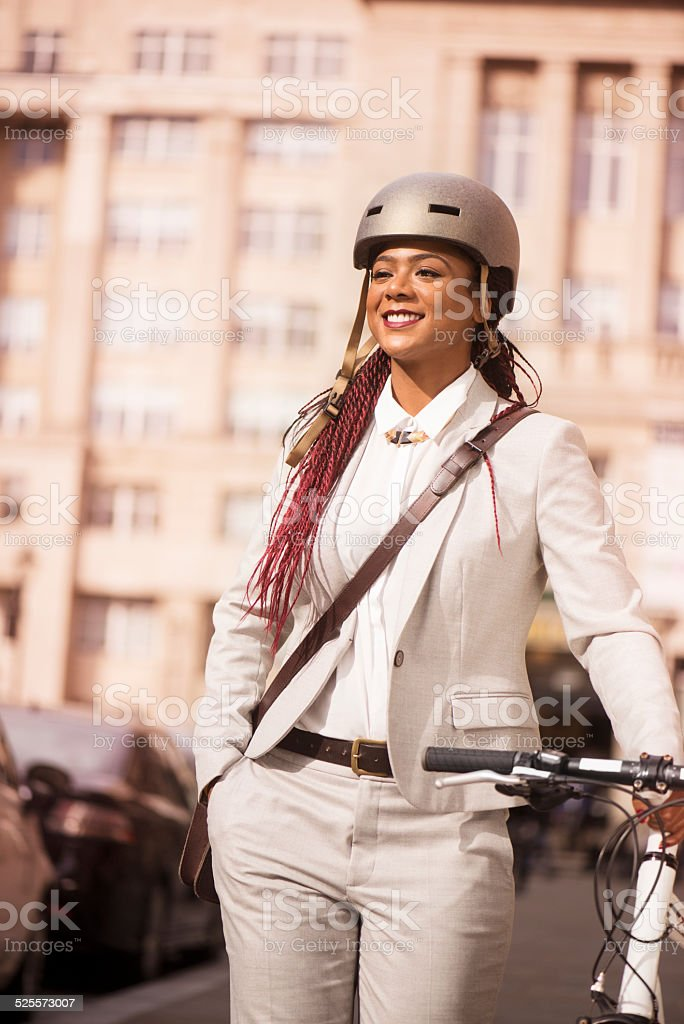it's a great way to get to work stock photo
