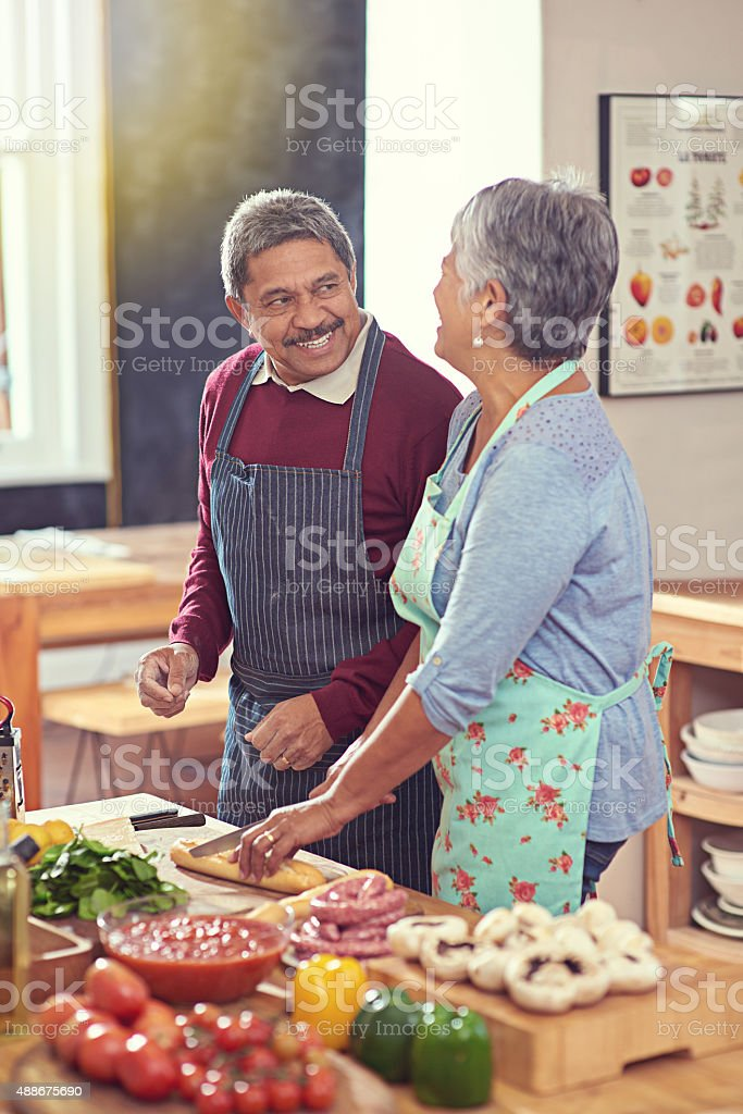 It's a healthy and happy retirement stock photo