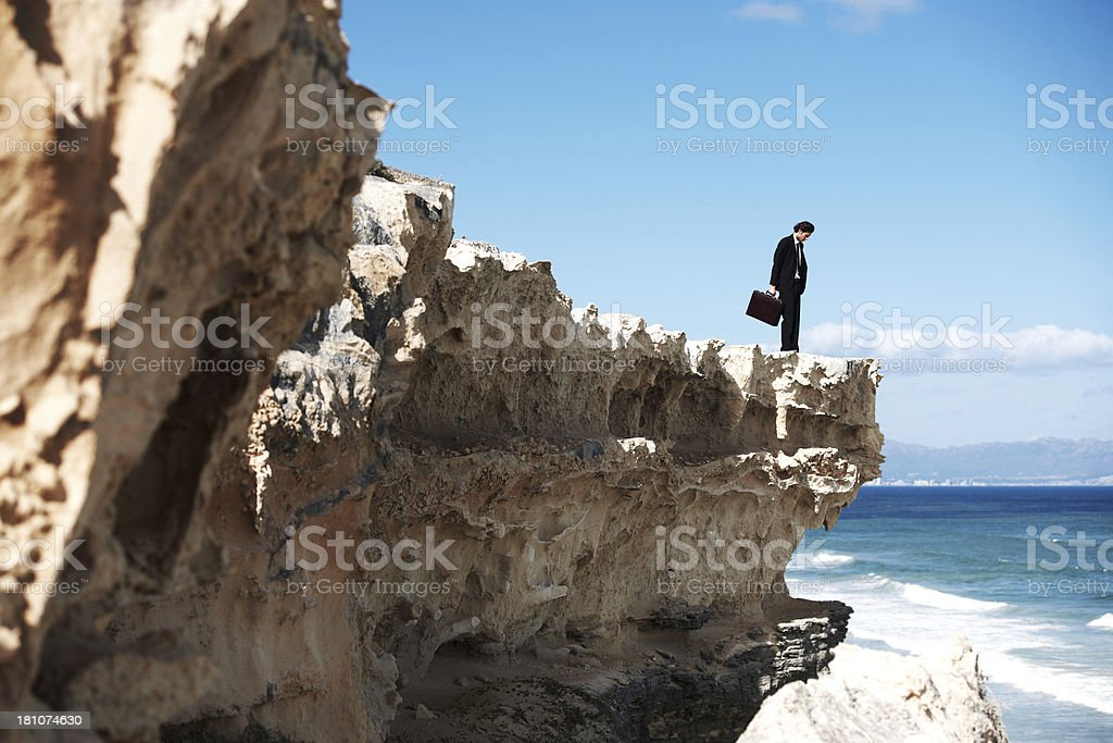It's a long way down... royalty-free stock photo