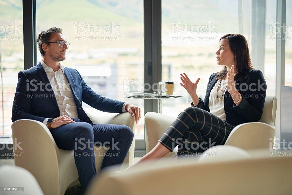 It's a partnership built on communication stock photo