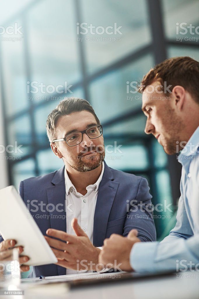 It's a perfect partnership stock photo