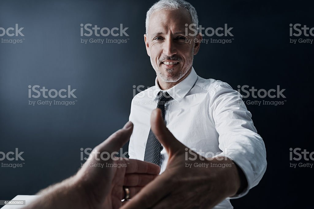 It's a pleasure to meet you stock photo