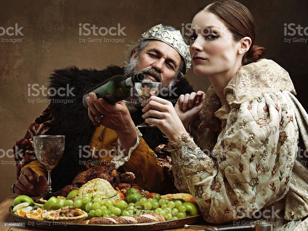 It's a rickety throne after enough mead! stock photo