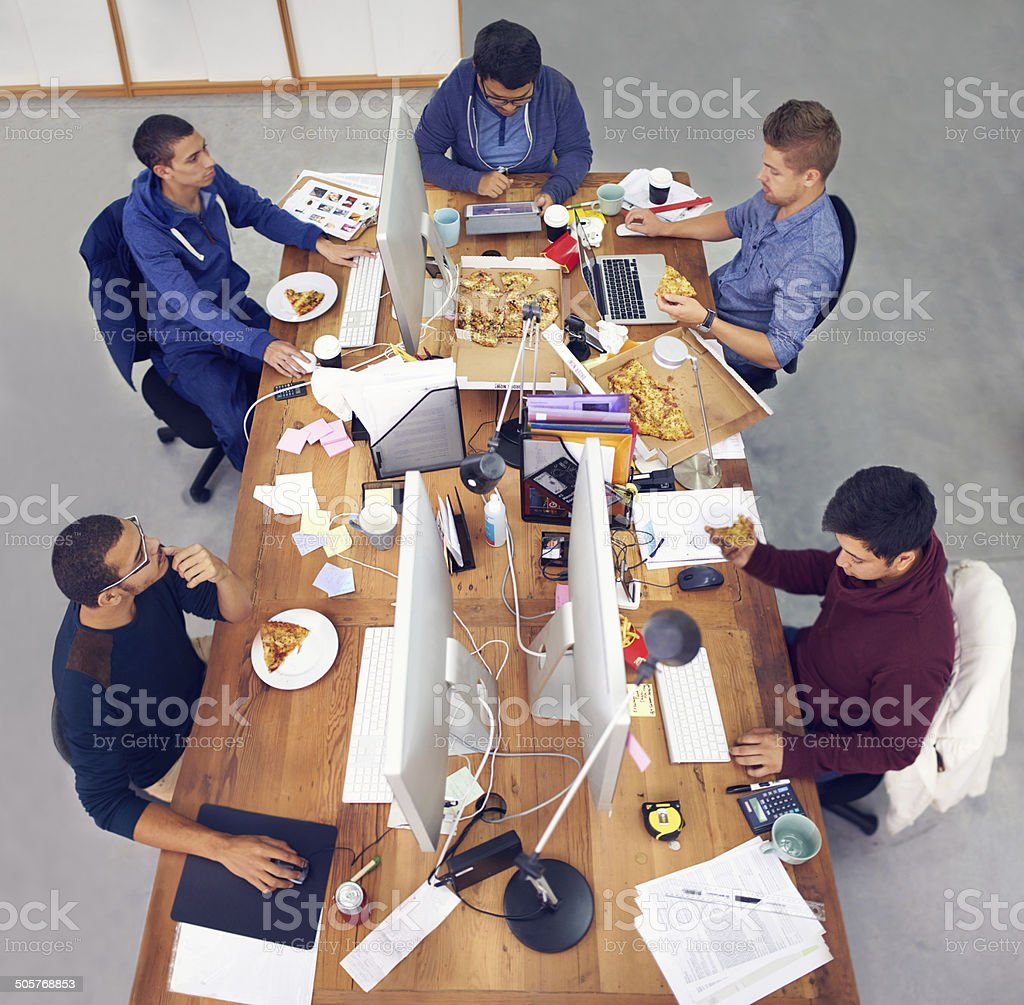 It's a working party stock photo
