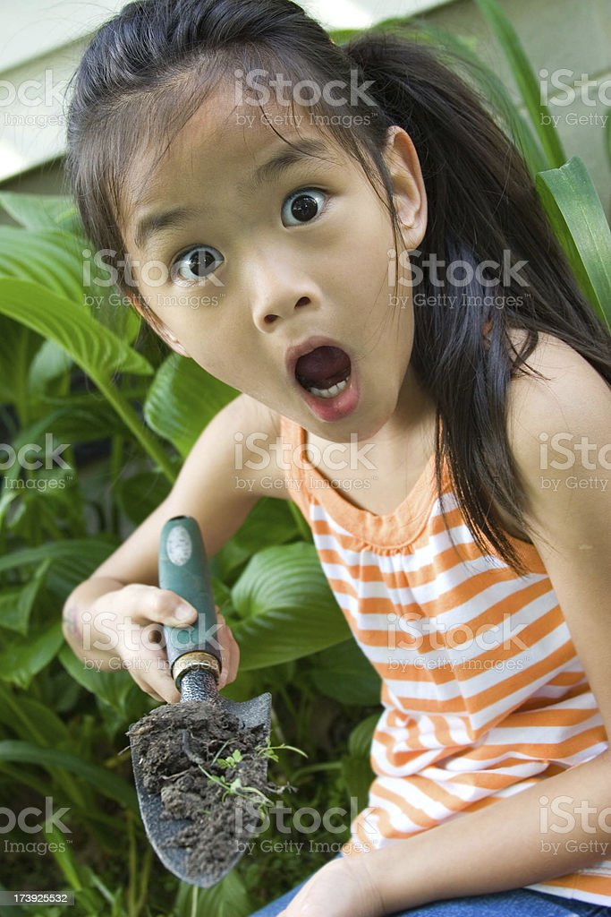 It's a worm! stock photo
