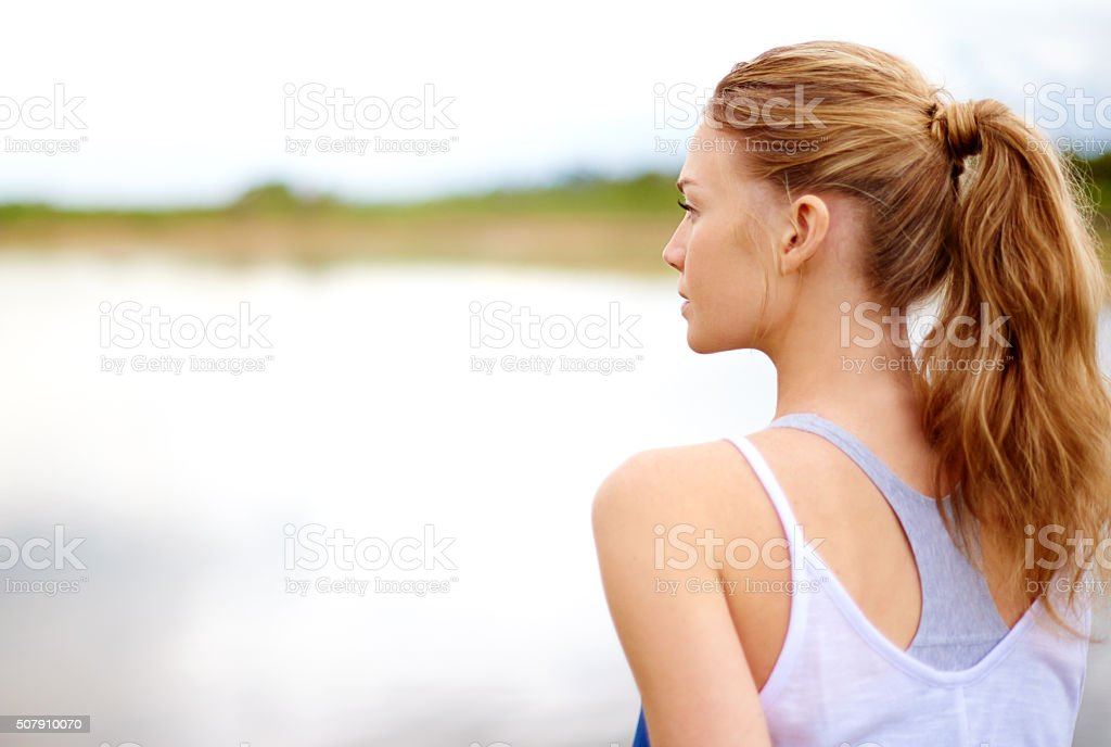 It's all about finding the calm in the chaos stock photo