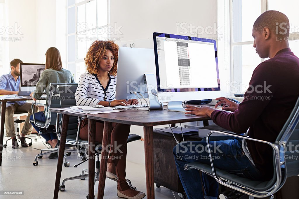 It's all about productivity in their office stock photo
