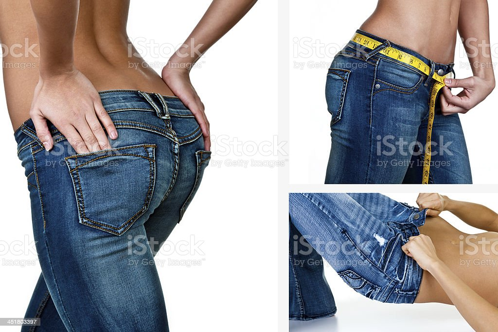 It's all about the jeans stock photo