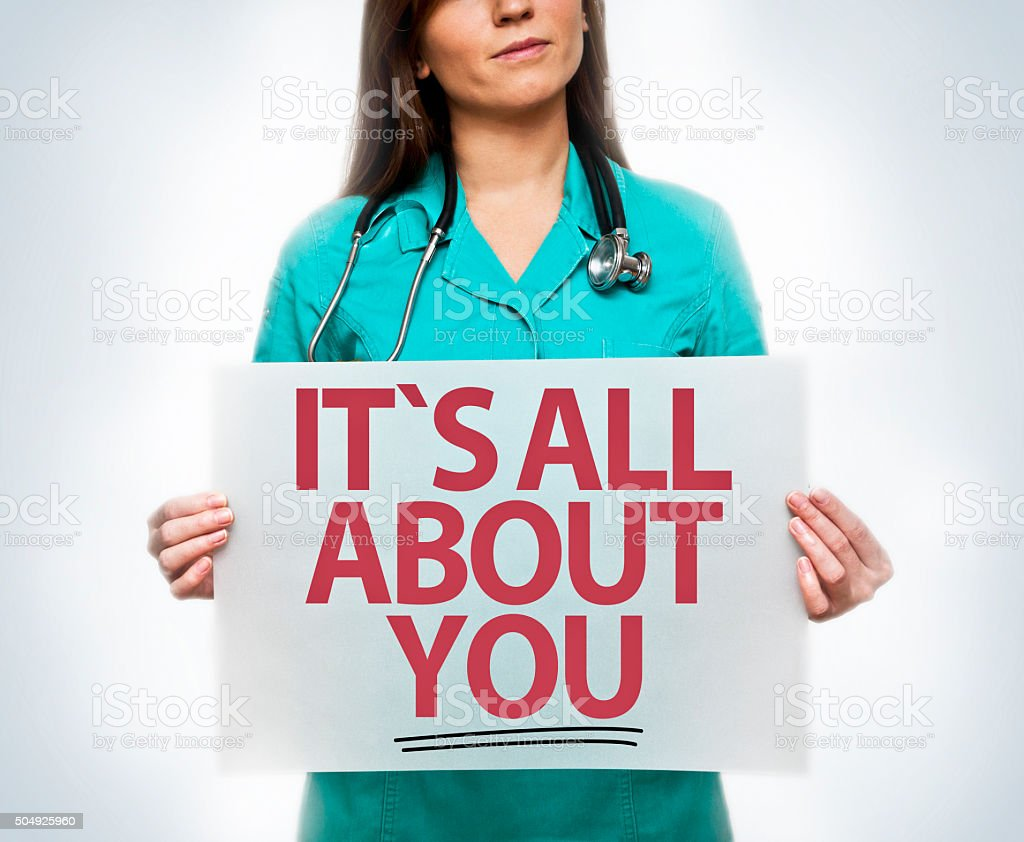 It`s all about you / Medicine concept (Click for more) stock photo