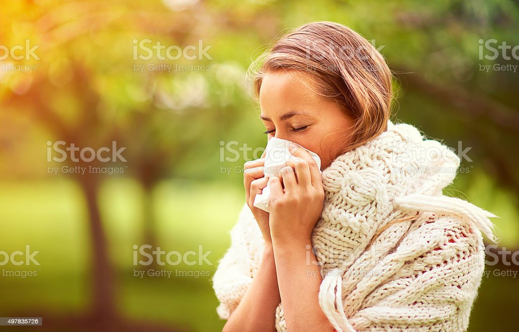It's allergy season... stock photo