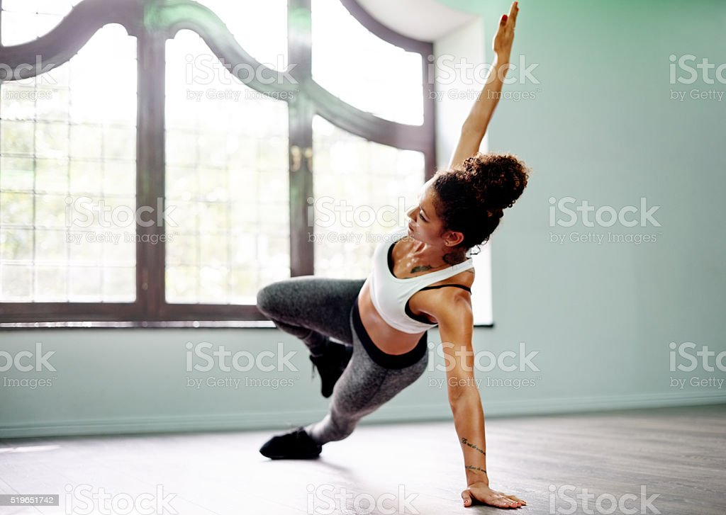 It's amazing what the body can achieve with yoga stock photo