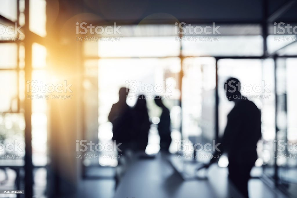It's an office filled with ambition stock photo