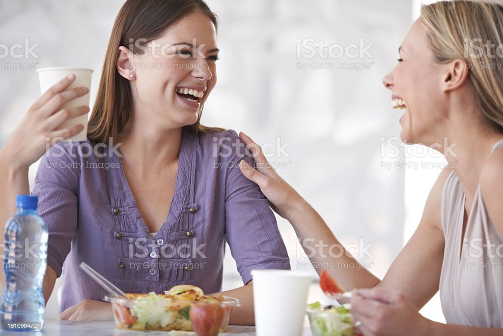 It's awesome to get along with co-workers stock photo