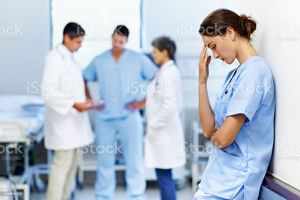 It's been a long shift stock photo