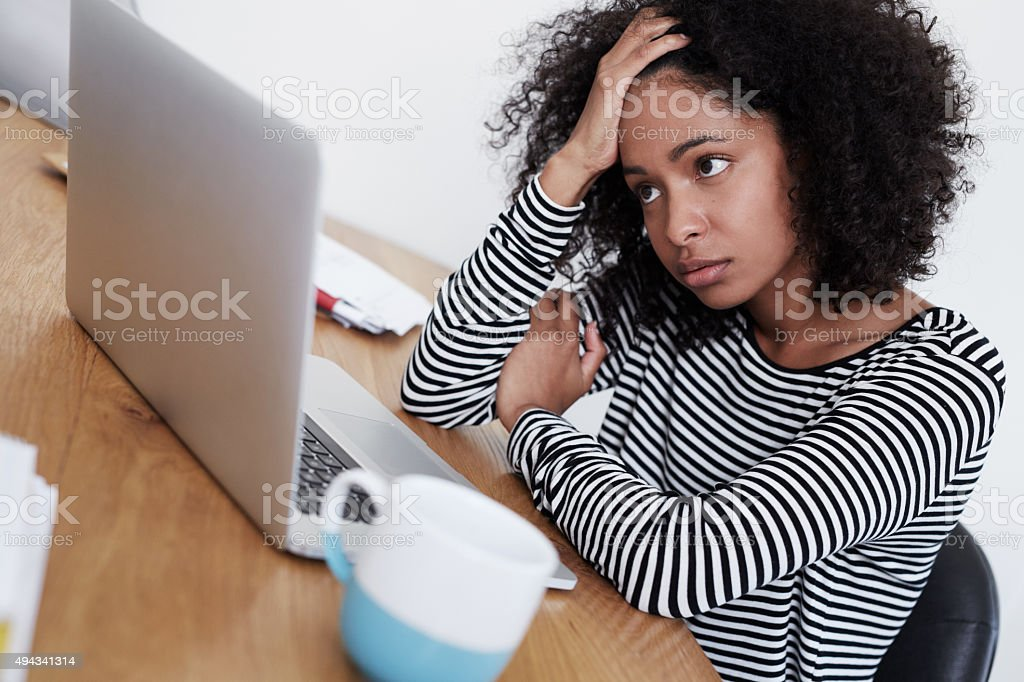 It's been a rough day stock photo