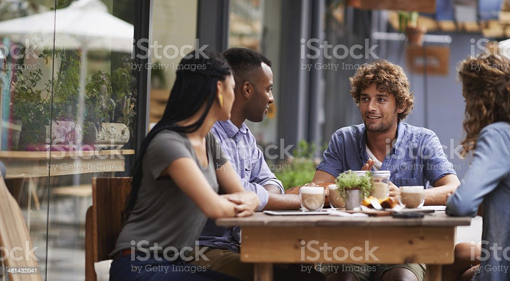 It's been ages since we met up! stock photo