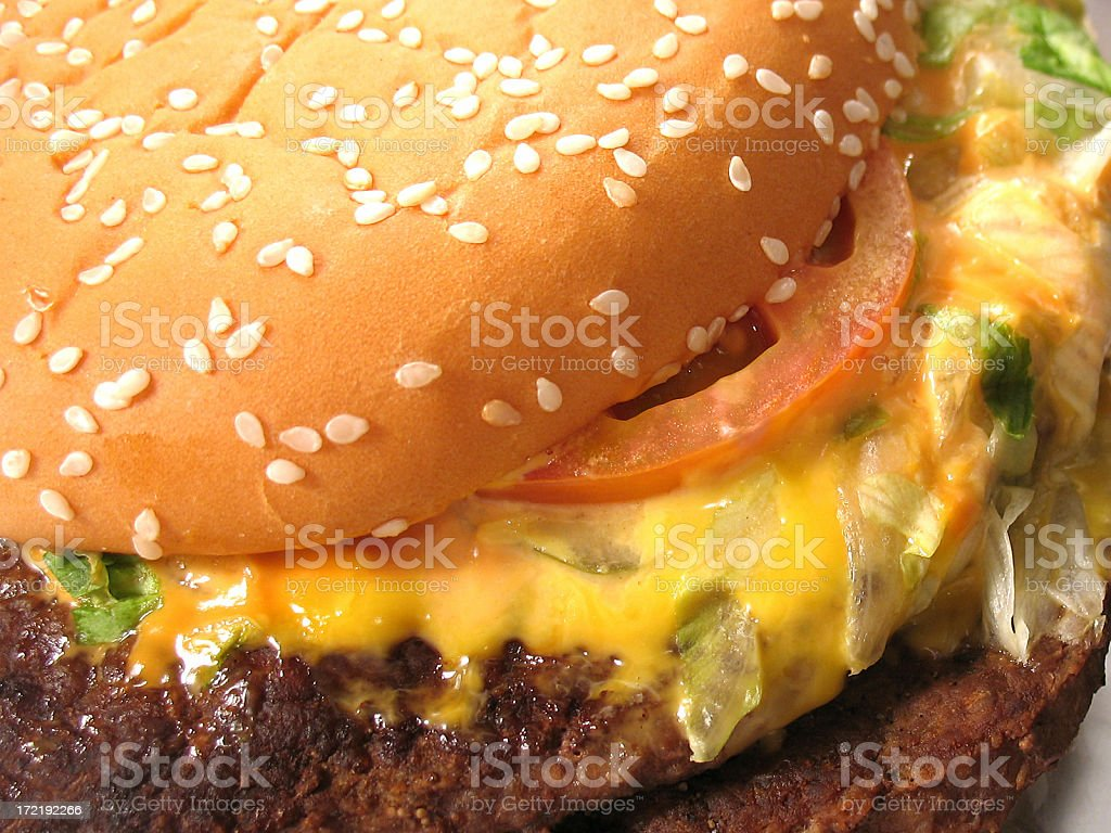 Its Burger time !! stock photo