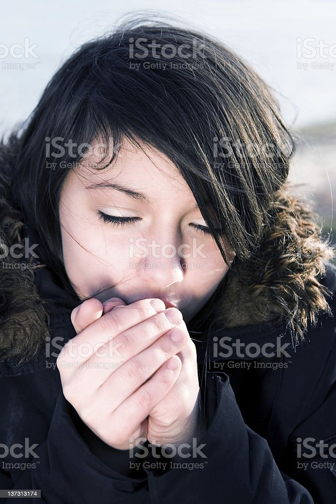 It's cold outside royalty-free stock photo