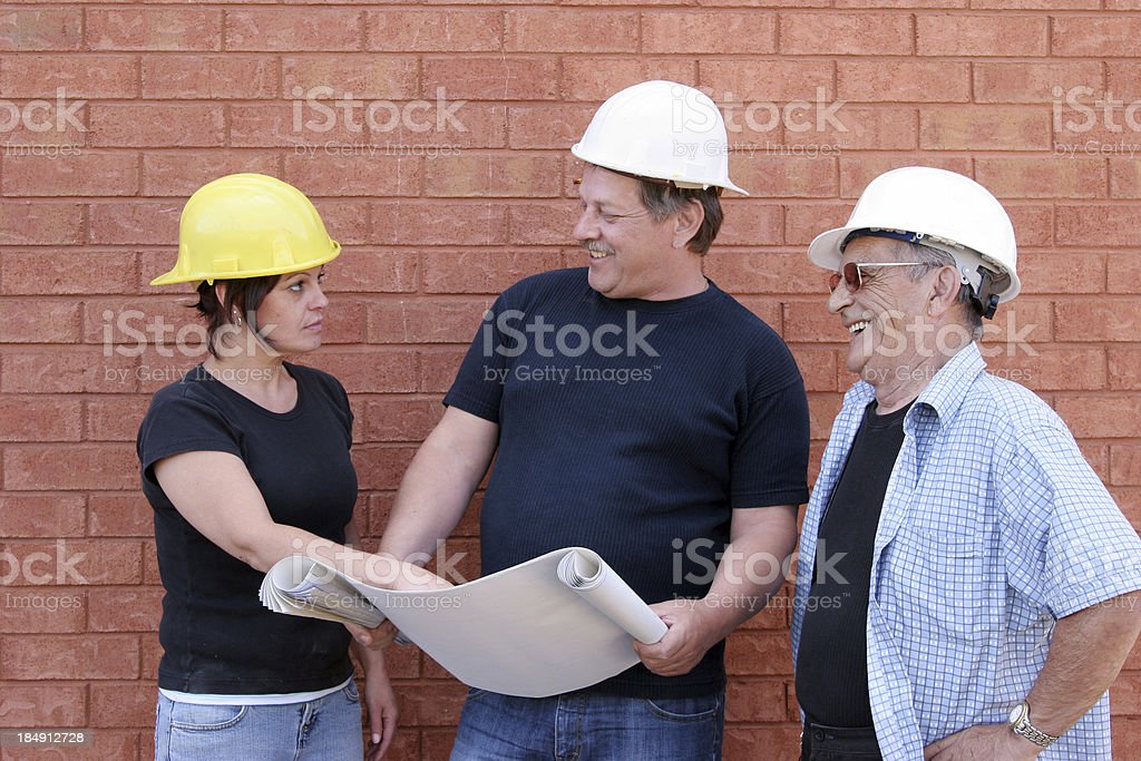 It's difficult for a woman! royalty-free stock photo
