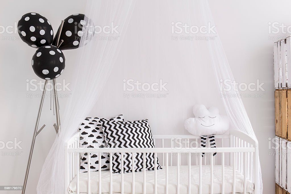 It's easy to sleep tight in a bed like this stock photo
